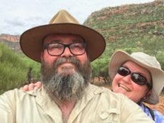 Megan and David Selfie at Arkaroo Rock, South Australia