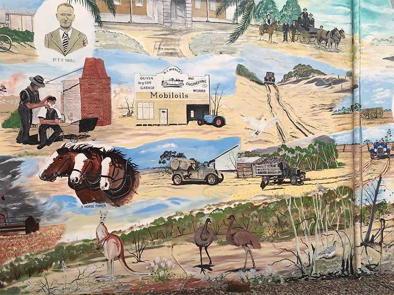 Ouyen Historical Mural