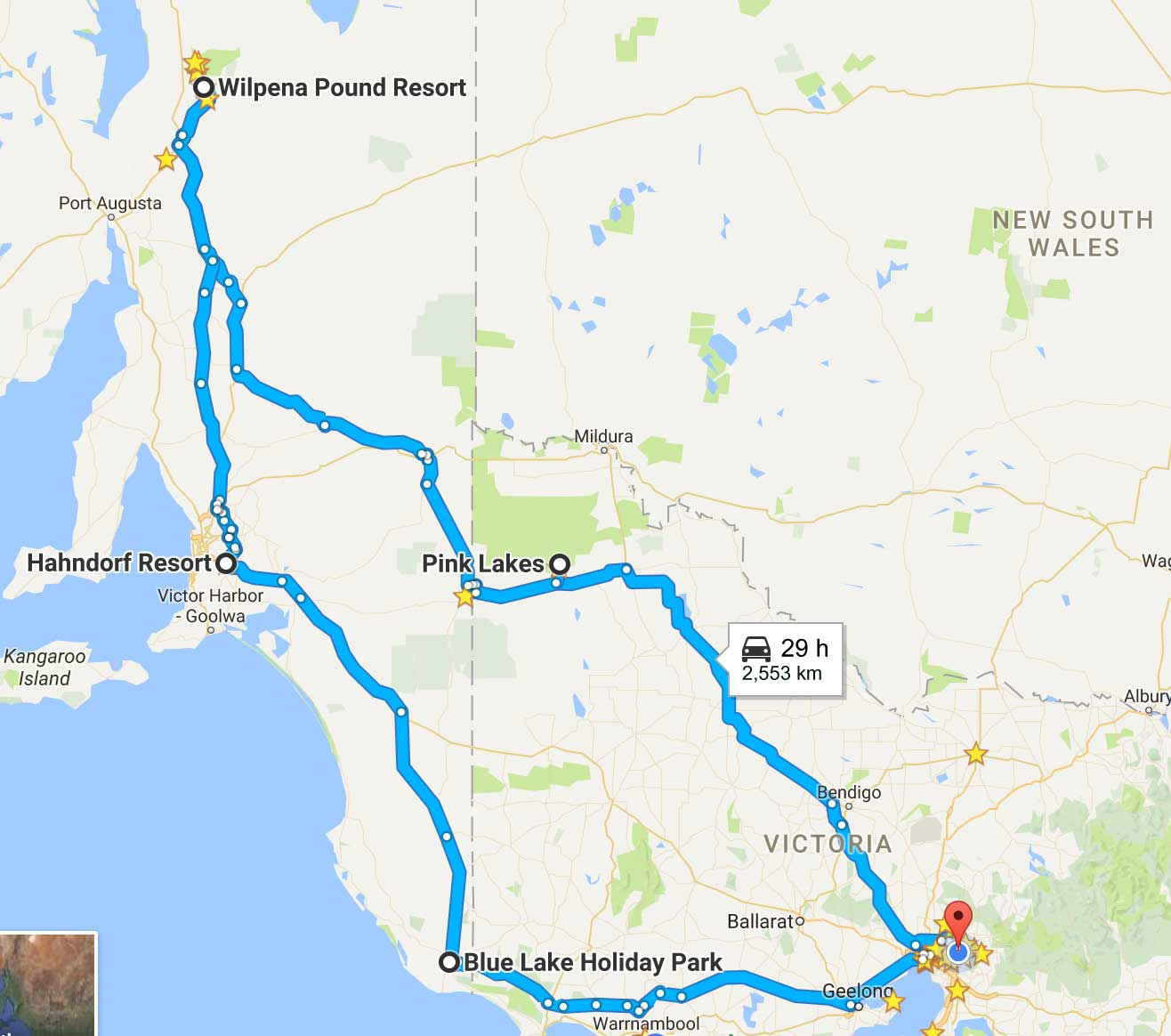 Melbourne to Wilpena Pound camping trip