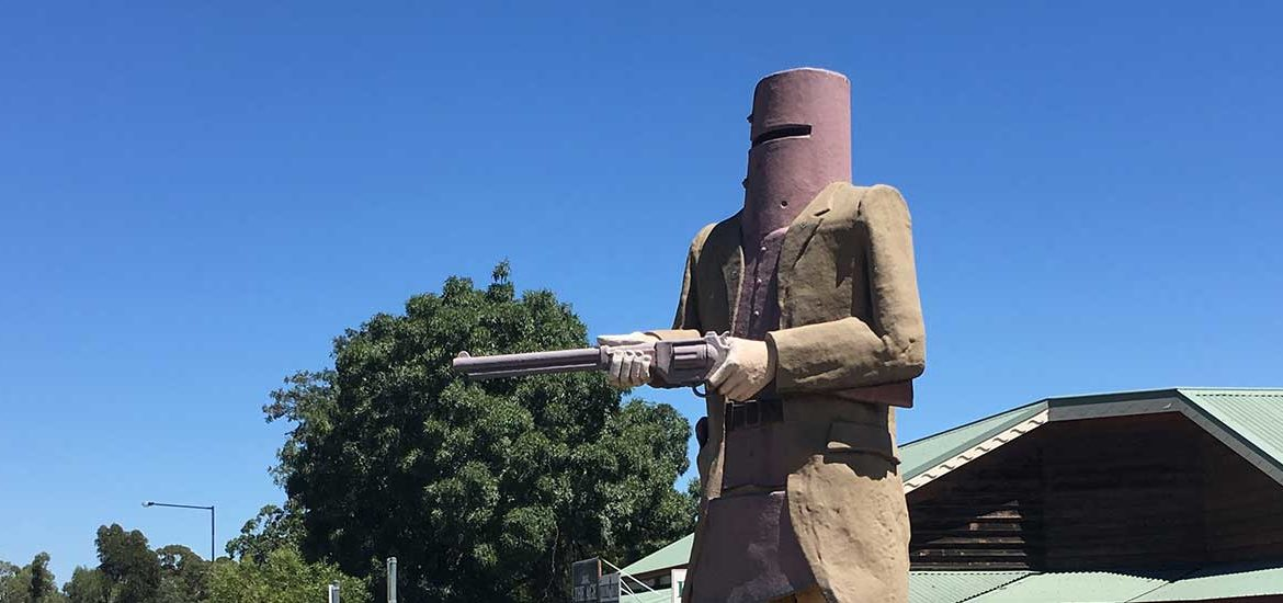 Ned Kelly in Glenrowan