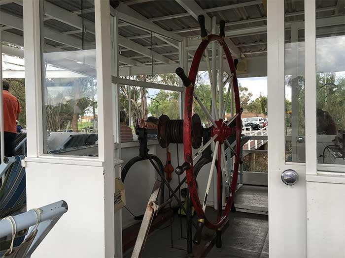 Paddle Steamer Steering Wheel